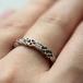Keltische Knoten-Stein-Set Ring - Am Finger