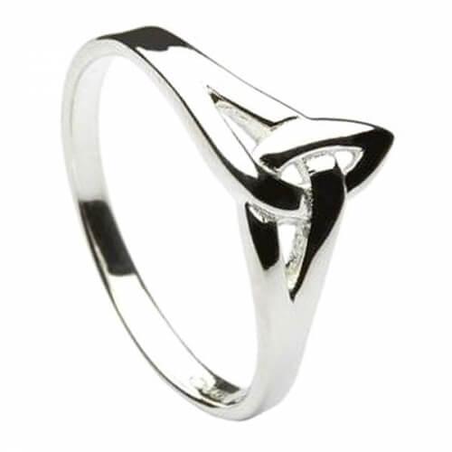 Silber Dreifaltigkeits knoten Ring