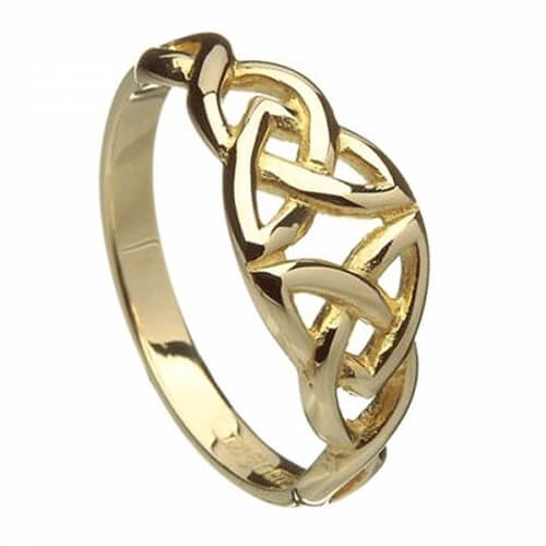 Keltischer Knoten Ring - Gold