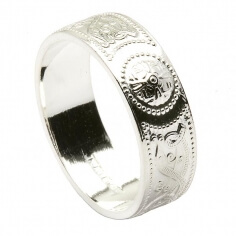 Silver Celtic Ring - Based on Ardagh Chalice