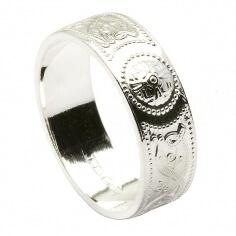 Silber keltischer Ring - Basierend auf Ardagh Kelch