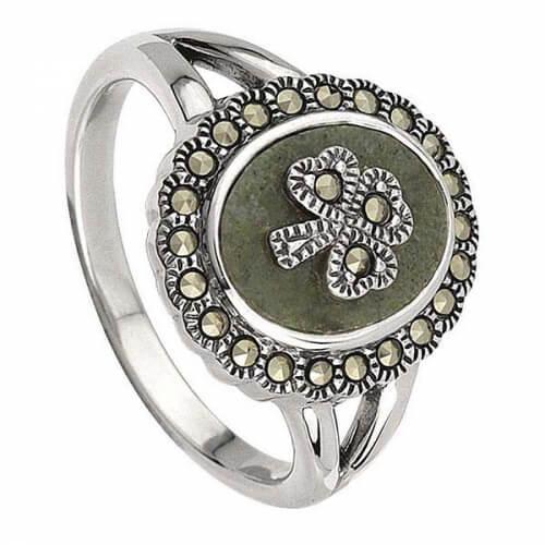 Marble Shamrock Ring
