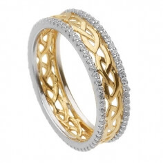 Two Tone Love Knot Eternity Band