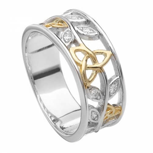 Silver & Gold Plated Trinity Band