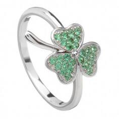 Grüner Kleeblatt-Ring