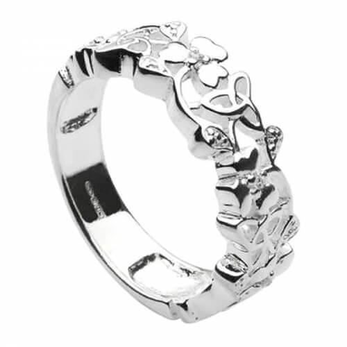 Kleeblatt und Dreifaltigkeitsknoten Ring