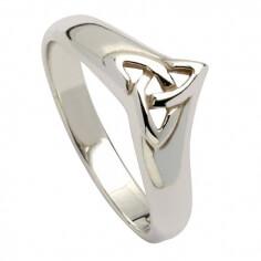 Weißgold Trinität Knoten Ring