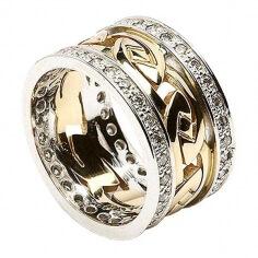 Noeud celtique éternel avec bordure en diamant