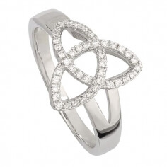 CZ Trinity Knot Ring