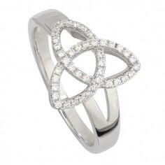 CZ Trinity Knoten Ring