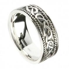 Mens Celtic Design Ring - Sterling SIlver