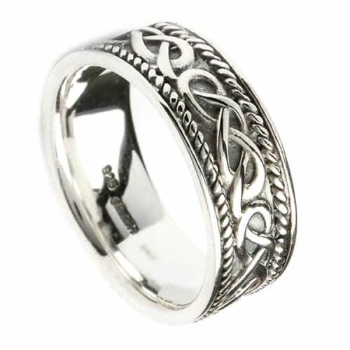 Mens Celtic Design Ring - Sterling SIlver