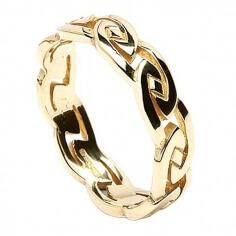 Herren Ewiger keltischer Knoten Ring - Gold