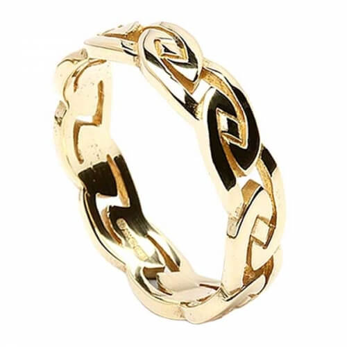 Mens Eternal Celtic Knot Ring - Gold