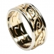 Men's Eternal Celtic Knot Ring with Trim - Yellow with White Trim