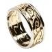 Herren Ewiger keltischer Knoten Ring mit Trim - Gelb mit weißem Rand