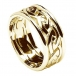 Men's Eternal Celtic Knot Ring with Trim - All Yellow Gold