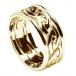 Herren Ewiger keltischer Knoten Ring mit Trim - Alles gelbes Gold
