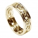 Womens Eternal Celtic Knot Ring with Trim - All Yellow Gold