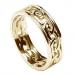 Damen Ewiger keltischer Knoten Ring mit Trim - Alles gelbes Gold