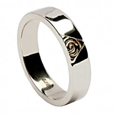 Celtic Spiral Ring with Diamonds - White Gold