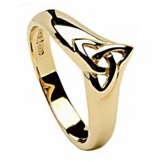 Bague nœud trinité en or
