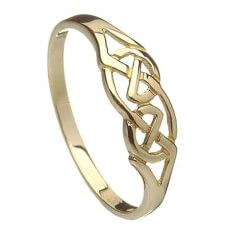 Anneau de noeud celtique or femmes
