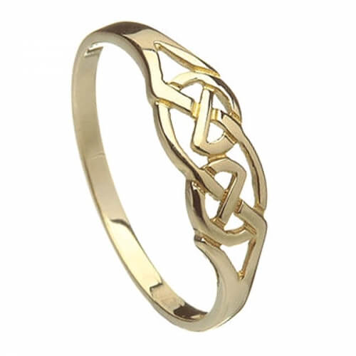 Womens Gold Celtic Knot Ring