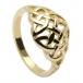 Gewölbte keltischer Knoten-Ring