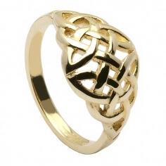 Bague en forme de dôme noeud celtique