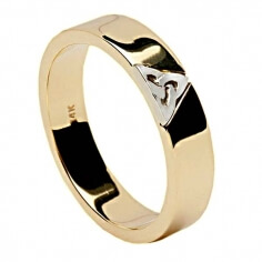 Two Tone Trinity Ring