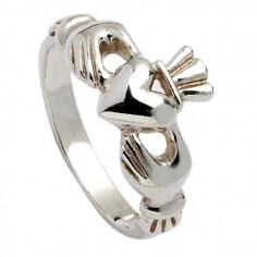 Klassischer Claddagh Ring für Damen - Silber