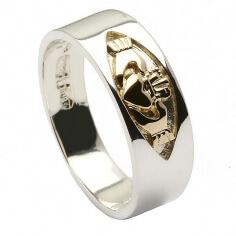 Silver Unisex Claddagh Band
