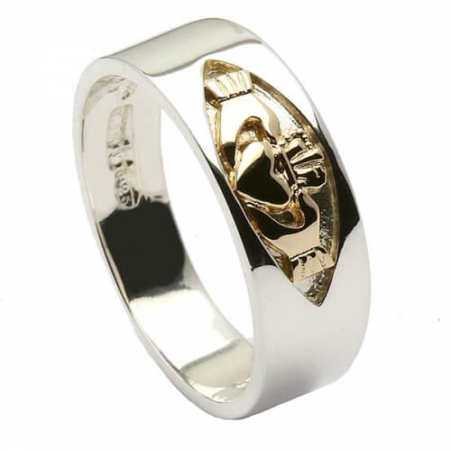 Silbernes Unisex Claddagh Band