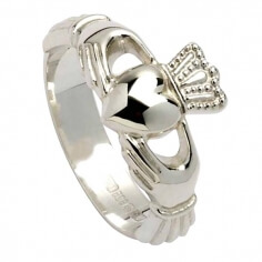 Claddagh Ring mit hoher Krone - Silber
