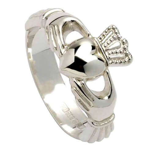 Claddagh Ring with High Crown - Silver