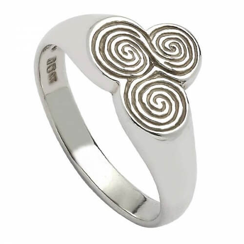 Newgrange Celtic Spiral Ring - Silver