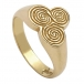 Newgrange Celtic Spiral Ring - Yellow Gold