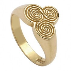Bague Spirale Celtique Newgrange - Or jaune