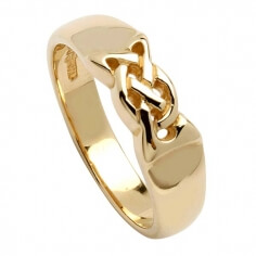 Celtic Knot Band - Yellow Gold
