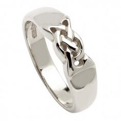 Silberne keltische Knoten Band