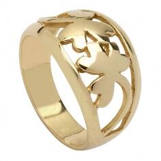 Kleeblatt Ring - Gelbgold