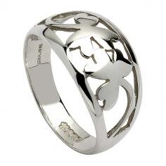 Silber Kleeblatt Ring