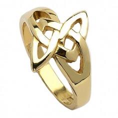 Keltischer Ring mit offenem Knoten - Gelbgold