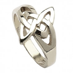 Celtic Open Knot Ring - Silver
