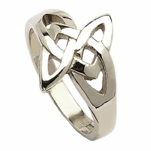 Keltischer Ring mit offenem Knoten - Silber