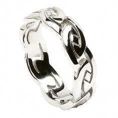 Herren Ewiger keltischer Knoten Ring - Silber
