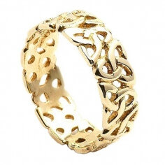 Trinity Knot Band - Yellow Gold