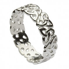 Womens Trinity Knot Band - Sterling Silver