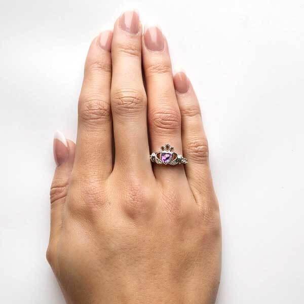 141f5165c5fd3 June Birthstone Claddagh Ring